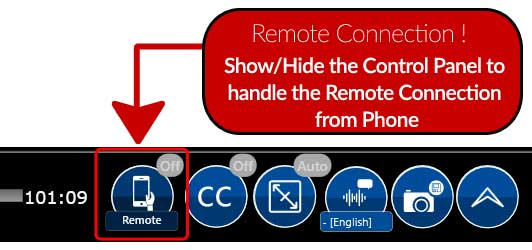 Remote connection Status - Click to show/hide the Connection Wizard..