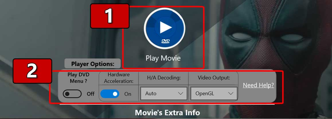 DVD Player+ : Playback Options for DVD's